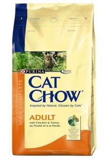 Purina Cat Chow Adult Turkey & Chicken - Hindili Ve Tavuklu Yetişkin Kedi Maması 1,5 Kg
