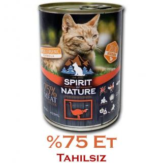 *Spirit Of Nature Devekuşu Etli Kedi Konservesi 415gr.