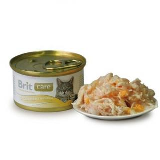 Brit Care Chicken Breast & Cheese Tavuklu Ve Peynirli Kedi Konservesi 80 Gr