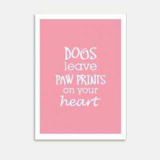 Lolidogs Dogs Leave Paw Prints On Your Heart Çerçeve