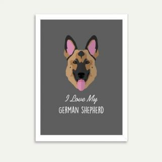Lolidogs German Shepherd Çerçeve