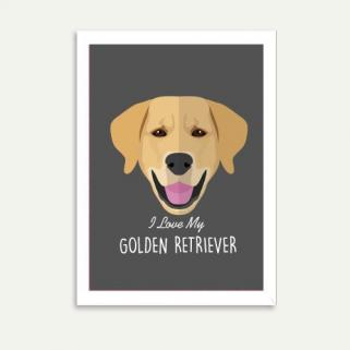 Lolidogs Golden Retriever Çerçeve